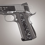 1911 Govt. G10 Magrip Kit Smooth Arched G-Mascus Black/Gray