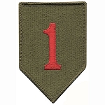 1st Infantry Big Red One Patch - Subdued