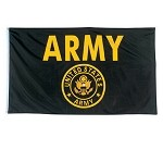 Black and Gold ARMY 3'x5' Flag