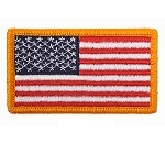 American Flag Patches with Hook Back
