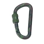 Woodland Camo 80mm Locking Carabiner