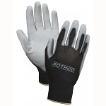 Rothco Polyurethane Coated Nylon Utility Gloves in Black/Grey