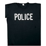 Police Black 2-Sided T-Shirt