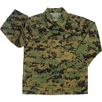 Kids Woodland Digital Camo 4-Pkt. B.D.U. Shirt
