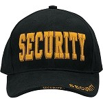 Deluxe Low Profile Insignia Cap - SECURITY in Gold
