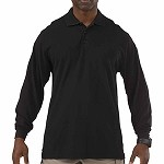 Black Professional L/S Polo