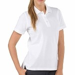 White Womens Professional S/S Polo