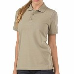 Silver Tan Womens Professional S/S Polo