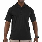 Black Short Sleeve Performance Polo