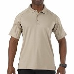 Silver Tan Short Sleeve Performance Polo