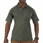 TDU Green Short Sleeve Performance Polo