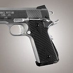 1911 Govt. G10 Magrip Piranha Arched Solid Black
