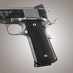 1911 Govt. Alum Magrip Kit Checkered Flat Matte Black