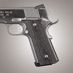1911 Govt. G10 Magrip Kit Checkered Flat G-Mascus Black/Gray