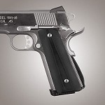 1911 Govt. G10 Magrip Kit Smooth Arched Solid Black