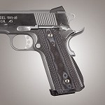 1911 Govt. G10 Magrip Checkered Arched G-Mascus Black/Gray