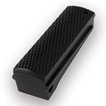 1911 Govt. G10 Flat MSH Checkered Solid Black