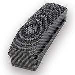 1911 Govt. G10 Arched MSH Checkered G-Mascus Black/Gray