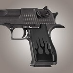 Desert Eagle Alum Grip Black Flames