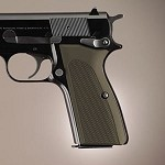 Browning Hi-Power Alum Checkered Matte Green