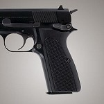 Browning Hi-Power G10 Checkered Solid Black