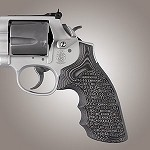 S&W K&L G10 Round Butt Conversion Piranha G-Mascus Black/Gray