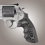 S&W K&L G10 Round Butt Conversion Smooth G-Mascus Black/Gray