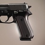 SIG Sauer P220 American Checkered Alum Brushed Gloss Black