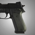SIG Sauer P220 SAO American Checkered G10 Solid Black