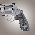 S&W N Frame Round Butt Conv G-10 Smooth G-Mascus Black/Gray