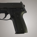 SIG Sauer P228 P229 DAK G10 Checkered Solid Black