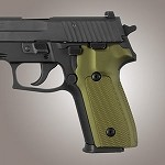 SIG Sauer P228 P229 DA/SA Alum Checkered Matte Green