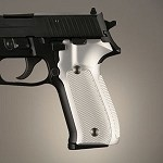 SIG Sauer P228 P229 DA/SA Alum Checkered Brushed Gloss Clear
