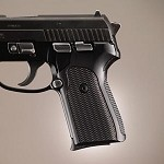 SIG Sauer P239 DA/SA Alum Checkered Brushed Gloss Black