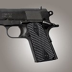 1911 Officers G10 Piranha Solid Black