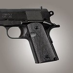 1911 Officers G10 Checkered G-Mascus Black/Gray