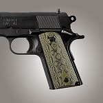 1911 Officers G10 Checkered G-Mascus Green