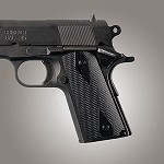 1911 Officers G10 Checkered Solid Black