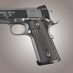 1911 Govt S&A Mag Well G10 Checkered G-Mascus Black/Gray