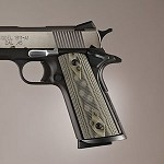 1911 Govt S&A Mag Well G10 Checkered G-Mascus Green