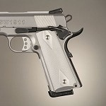 1911 Govt Aluminum Checkered Brushed Gloss Clear