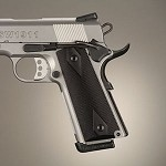 1911 Govt Aluminum Checkered Brushed Gloss Black