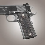 1911 Govt G10 Checkered G-Mascus Black/Gray