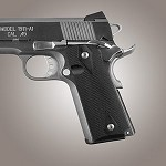 1911 Govt G10 Checkered Solid Black