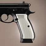 CZ 75 - CZ 85 Aluminum Checkered Brushed Gloss Clear
