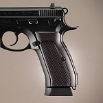 CZ 75 - CZ 85 Aluminum Checkered Brushed Gloss Black