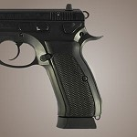 CZ 75 - CZ 85 G10 Checkered Solid Black