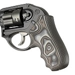 Ruger LCR Enclosed Hammer G10 Smooth G-Mascus Black/Gray