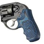 Ruger LCR Enclosed Hammer G10 Piranha G-Mascus Blue Lava