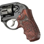 Ruger LCR Enclosed Hammer G10 Piranha G-Mascus Red Lava